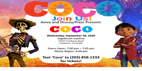 Disney/Pixars Coco Socially Distant Drive-In Movie Night Fundraiser tickets