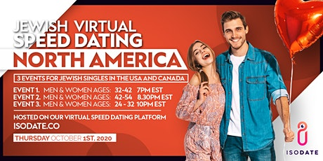 Isodate's North America Jewish Virtual Speed Dating tickets