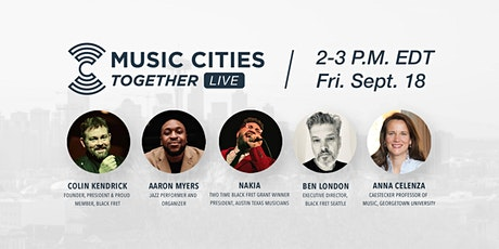 Music Cities Together: Live (Sept. 18th) tickets