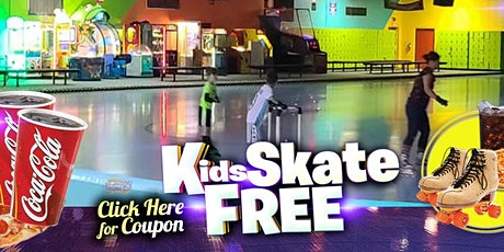 Kids Skate Free Saturday 9/19/2020 at 1pm (with this ticket) tickets