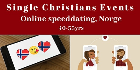 Single Christians Events: Virtual Speed Dating, Norway, 40-55yrs tickets