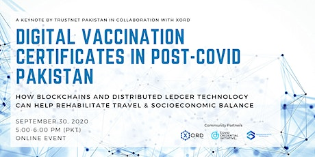 Digital Vaccination Certificates In Post-COVID Pakistan tickets