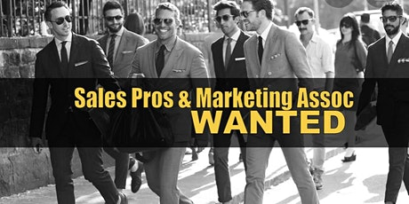 Looking for Sales pros Exp or Non Ex $$$ tickets