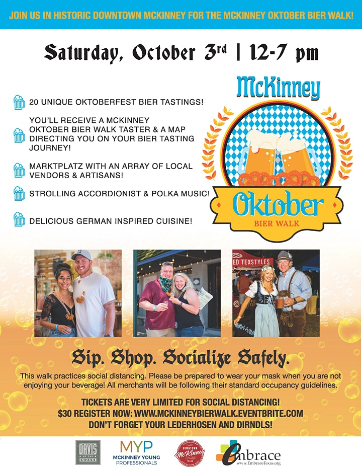 McKinney Oktober Bier Walk presented by Davis at the Square image