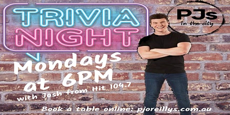 Monday Trivia at PJs in the City tickets