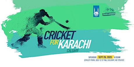 Calgary: Cricket for Karachi tickets