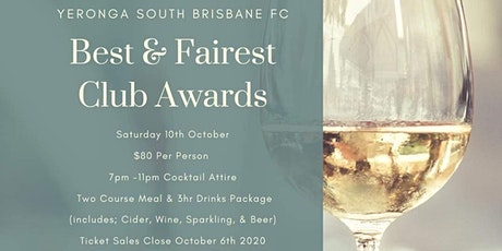 YSBFC 2020 Best & Fairest Awards Evening tickets