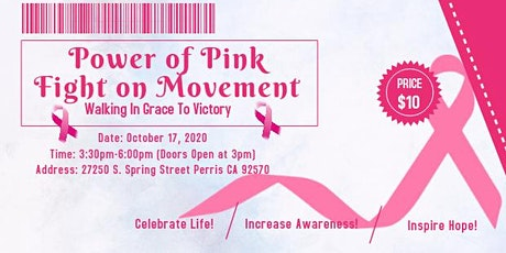 Power of Pink Fight on Movement tickets