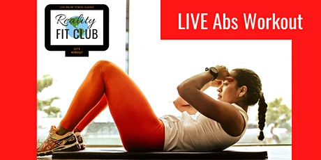 Mondays 3pm PST LIVE Rock Hard Abs: Core Abdominal Toning @Home Workout tickets