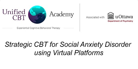 Strategic CBT for Social Anxiety Disorder using virtual platforms tickets