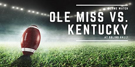 Ole Miss vs. Kentucky tickets