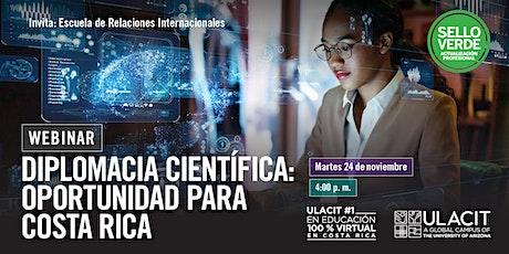 #SELLOVERDE: Diplomacia científica: oportunidad para Costa Rica ingressos