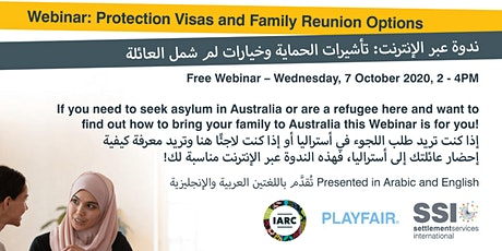 Webinar: Protection Visas and Family Reunion Options tickets