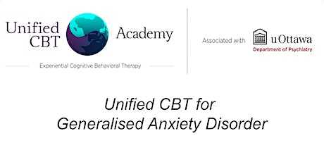 Unified CBT for Generalised Anxiety Disorder tickets