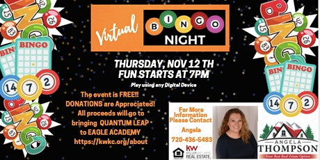 Virtual Bingo for A Cause tickets