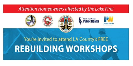 Lake Fire Rebuilding One-on-One Appointments tickets