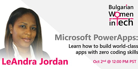 MS PowerApps: Learn how to build world-class apps with zero coding skills tickets