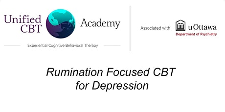 Rumination Focused CBT for Depression tickets