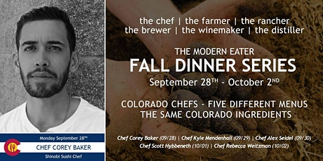 Fall Dinner Series - Chef Corey Baker - Night 1 tickets