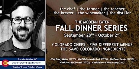 Fall Dinner Series - Chef Scott Hybbeneth - Night 4 tickets
