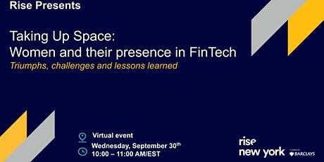 Taking up space: Women and their presence in FinTech tickets