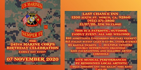 245th Marine Corps Birthday Celebration and Family Day tickets