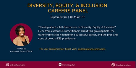 Diversity, Equity, and Inclusion Careers Panel tickets