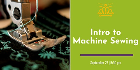 Intro to Machine Sewing tickets