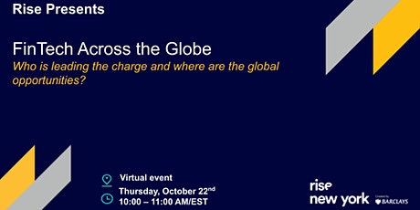Rise Presents: FinTech across the Globe tickets