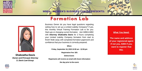 Formation Lab tickets