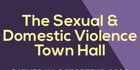 Sexual and Domestic Violence town hall tickets