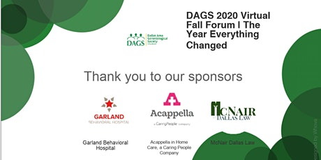 DAGS 2020 Virtual Fall Forum | The Year Everything Changed tickets