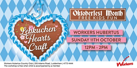 Oktoberfest Kids Club - Lebkuchen Hearts Craft tickets