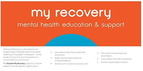 Snapshot My Recovery Mental Health Education & Support tickets