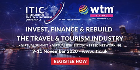 ITIC – TOURISM INVESTMENT VIRTUAL SUMMIT  9-11 November 2020 Tickets
