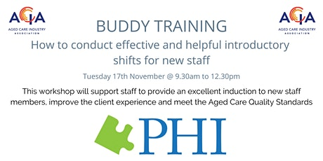 Buddy Training - How to conduct introductory shifts for new staff tickets