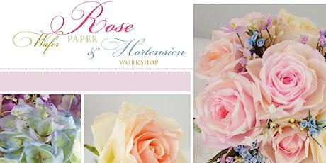 Wunderschöne handgemachte Esspapier Blumen für Tortendekorationen Tickets