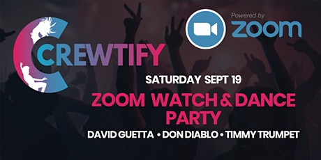 Crewtify Zoom Watch / Dance Party: David Guetta, Don Diablo, Timmy Trumpet tickets