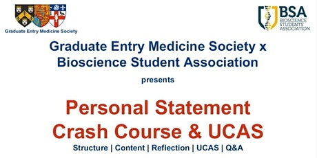 Personal Statement and UCAS Crash Course tickets