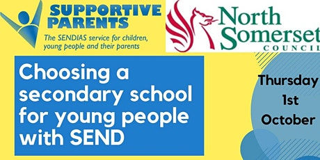 Choosing a secondary school for young people with SEND tickets