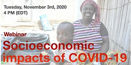 Socioeconomic impacts of COVID-19 webinar tickets
