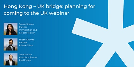 Hong Kong – UK bridge: planning for coming to the UK tickets