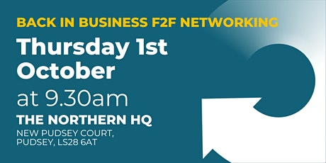In Business, Back In Business F2F Networking tickets