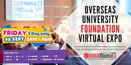 Overseas Universities Foundation Virtual Expo tickets