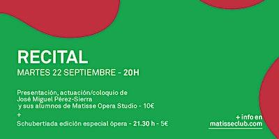 Recital Matisse Opera Studio con el alumnado de J.