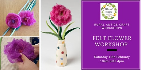 Felt Flower Workshop tickets