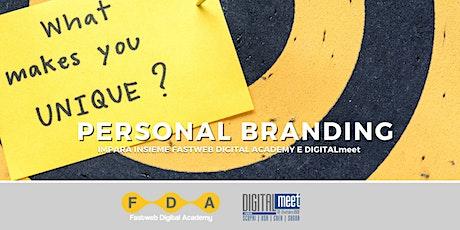 Social media e personal branding biglietti
