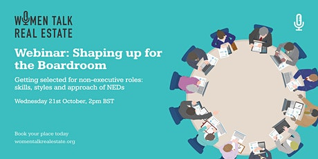 Webinar: Shaping up for the Boardroom tickets