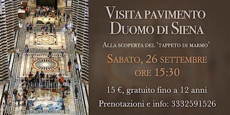 Visita guidata Pavimento del Duomo di Siena biglietti