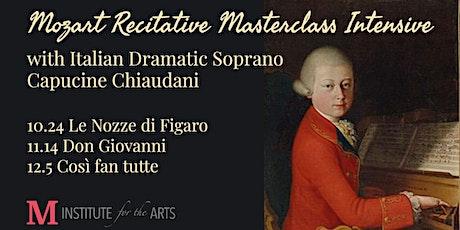 Mozart Recitative Masterclass Intensive ingressos